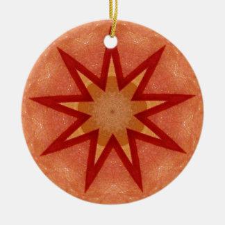 Glittering Christmas Star Fractal Christmas Ornament