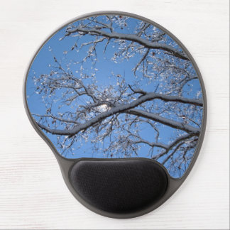 Glittering Ice and Snow Covered Trees Gel Mouse Pad