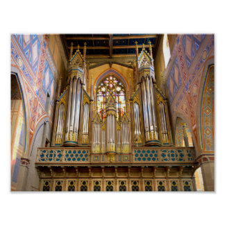 Glittering pipe organ poster