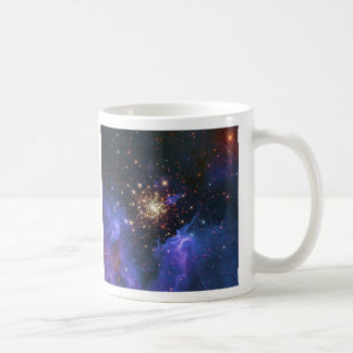 Glittering Star Cluster and Interstellar Gas Cloud Basic White Mug
