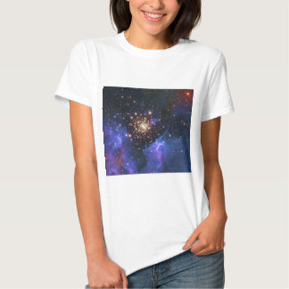 Glittering Star Cluster and Interstellar Gas Cloud T-shirt