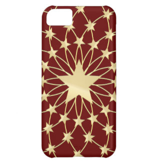 Glittering stars Royal Red iPhone 5C Case