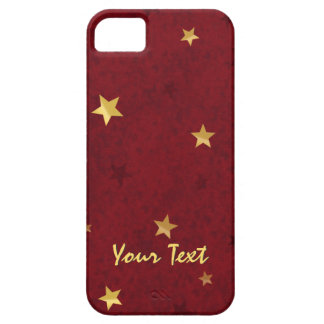 Glittering stars Royal Red with text Barely There iPhone 5 Case
