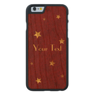 Glittering stars Royal Red Carved® Cherry iPhone 6 Slim Case