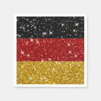 Glitters Germany Flag with Sparkles Disposable Napkin