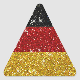 Glitters Germany Flag with Sparkles Triangle Sticker