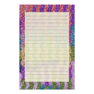 Glitters in Waves Stationery