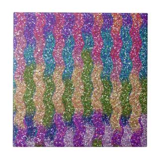 Glitters in Waves Tile