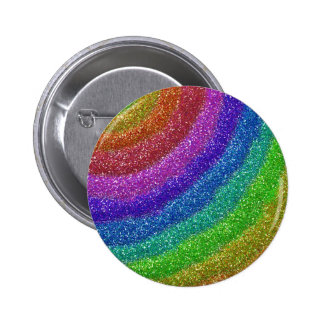 Glitters Rainbow 6 Cm Round Badge