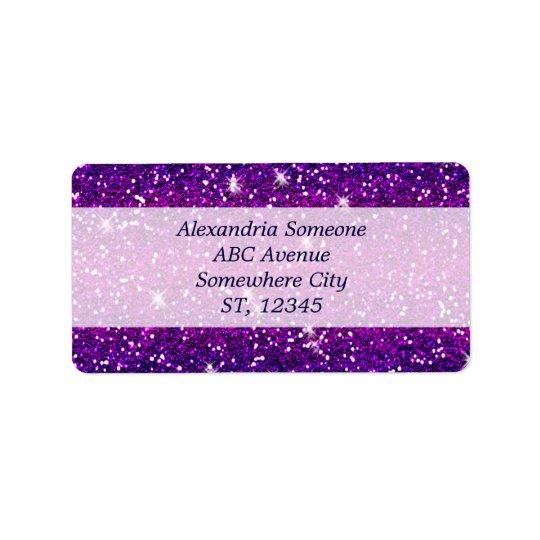 Glitters Sparkles Purple Pink Texture Label
