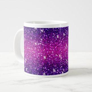 Glitters Sparkles Purple Pink Texture Large Coffee Mug