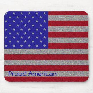 Glittery American Flag Mousepads