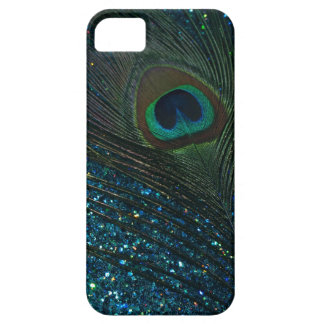 Glittery Aqua Peacock Barely There iPhone 5 Case