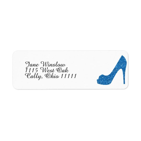 Glittery Blue High Heel
