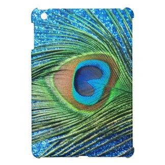 Glittery Blue Peacock Feather Still Life iPad Mini Cases