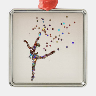 Glittery Dancer Christmas Ornament