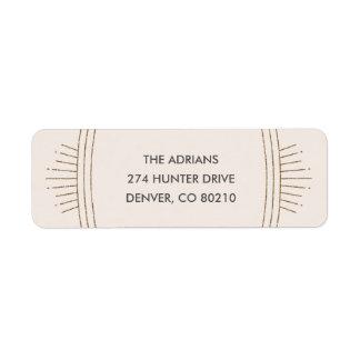 Glittery Deco New Year Mailing Label - Ivory Return Address Label