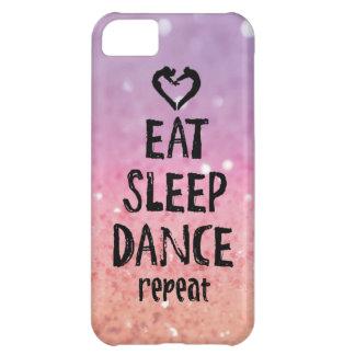 Glittery Eat, Sleep, Dance case