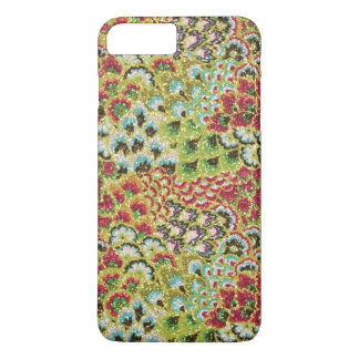 Glittery Fall Floral Tapestry iPhone 7 Plus Case