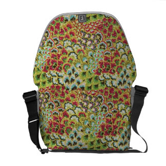 Glittery Fall Floral Tapestry Courier Bags