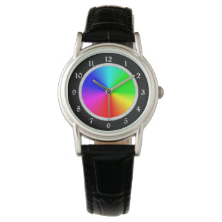 Glittery Frame Color Wheel Watch