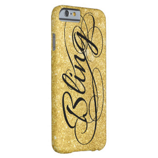 Glittery gold Bling Barely There iPhone 6 Case