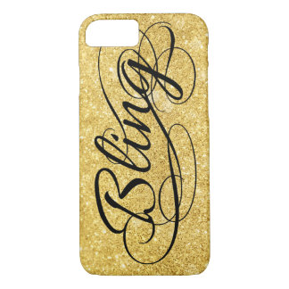 Glittery gold Bling iPhone 7 Case
