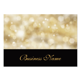 Glittery Gold Business Card