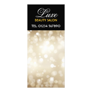 Glittery Gold Design Rack Card