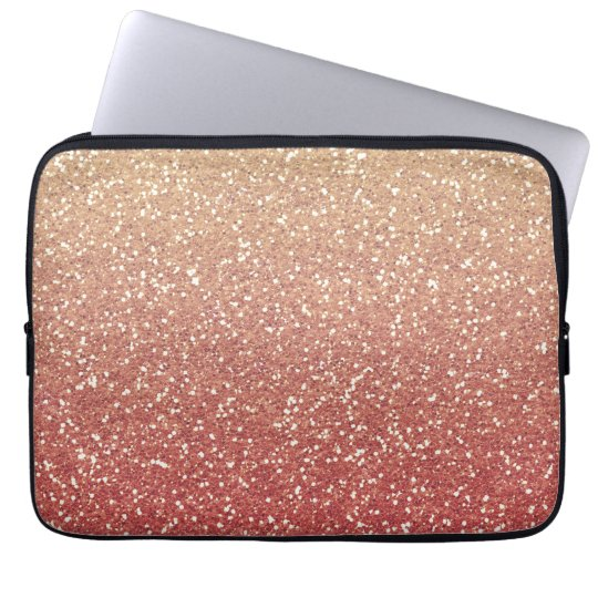 Glittery Gold Melon Laptop Sleeve