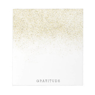 Glittery Gold Notepad