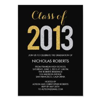 Glittery Graduation Invitation Custom Announcements