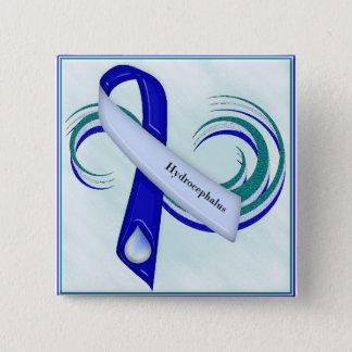Glittery Hydrocephalus Ribbon Button