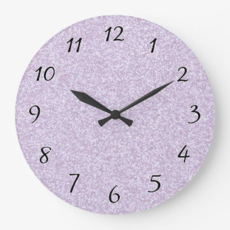 Glittery Lavender Large Clock