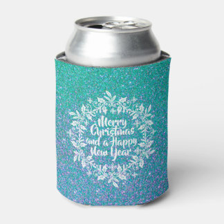 Glittery Merry Christmas | Can Cooler