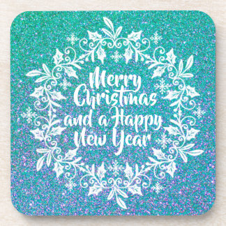 Glittery Merry Christmas | Coaster