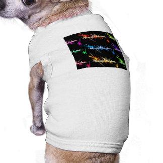 Glittery Merry Christmas Typography Pet Tee Shirt