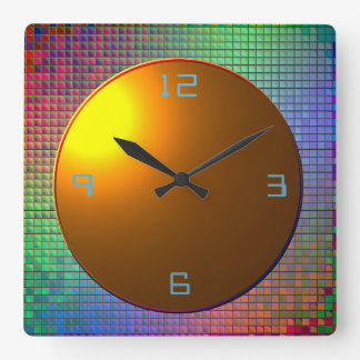 Glittery Multicolored>Patterned Wall  Clock
