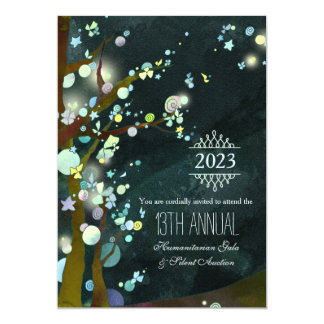 Glittery Night Charity Gala and Auction 13 Cm X 18 Cm Invitation Card