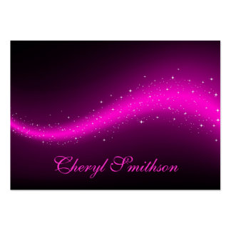 Glittery Pink Business Card