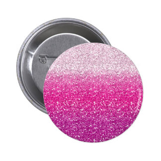 Glittery Pink Ombre 6 Cm Round Badge