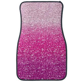 Glittery Pink Ombre Car Mat