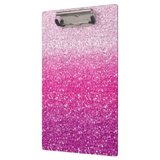 Glittery Pink Ombre Clipboard