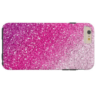 Glittery Pink Ombre Tough iPhone 6 Plus Case