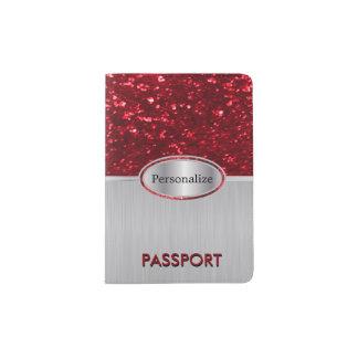 Glittery Red Bling Passport Holder