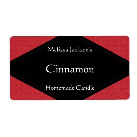 Glittery Red Soap or Candle Label