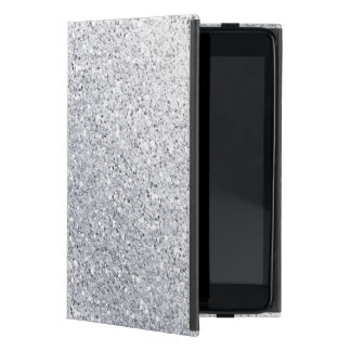 Glittery Silver Ombre iPad Mini Case