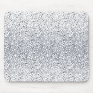 Glittery Silver Ombre Mouse Pad