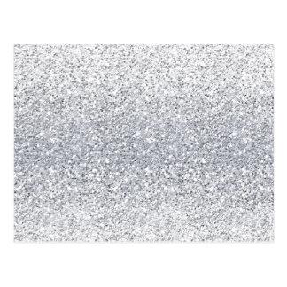 Glittery Silver Ombre Postcard