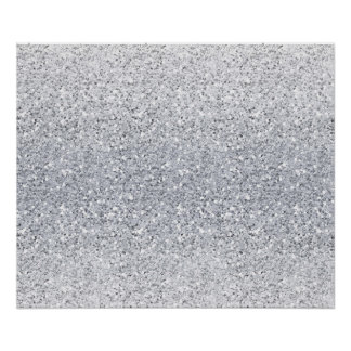 Glittery Silver Ombre Poster